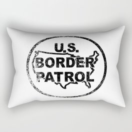 United States Border Control Stamp Rectangular Pillow