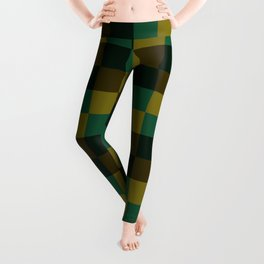 Modern overlapping camo squares Leggings