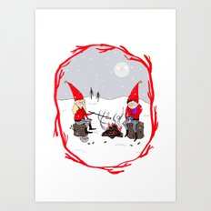 Snow and Stories Art Print