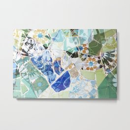 Mosaic of Barcelona VII Metal Print