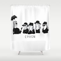 cactei Shower Curtains featuring AHS Coven by ☿ cactei ☿