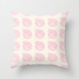 Rose Black Tea Throw Pillow