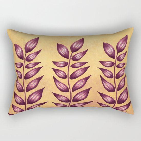 Abstract Plant With Purple Leaves Rectangular Pillow