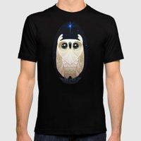 Starla the Owl MEDIUM Black Mens Fitted Tee