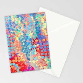 Blue Circle Pattern Stationery Cards