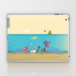 What's going on at the sea? Kids collection Laptop & iPad Skin