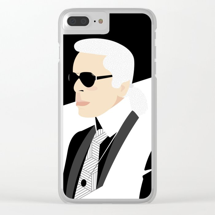 wholesale dealer 6a971 94251 Karl Lagerfeld Clear iPhone Case by luigidonofrio