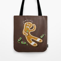 ale giorgini Tote Bags featuring Ginger Ale by jerbing