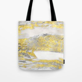 Silver and Gold Marble Design Tote Bag
