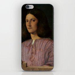 "Giorgione ""Portrait of a Young Man ('Giustiniani Portrait')"" iPhone Skin"