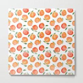 Watercolor oranges Metal Print