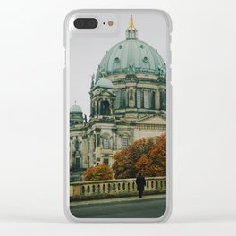 Autumn Loneliness Clear iPhone Case