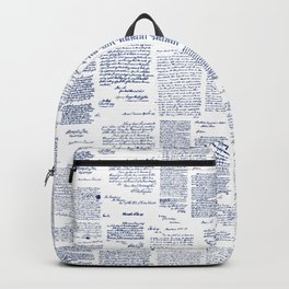 George Washington's Letters // Blue Ink Backpack