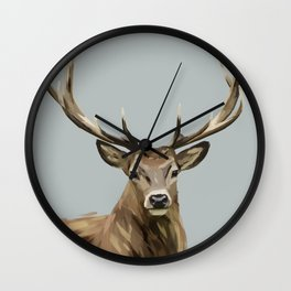 Yes Deer Wall Clock