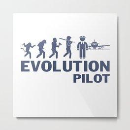 Evolution - Pilot Metal Print