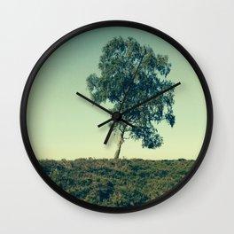 Lonely Tree, Hoge Veluwe National Park Wall Clock