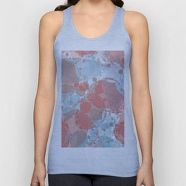 Round And Round Coral Blue Unisex Tank Top