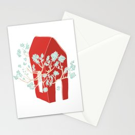 Break Free In Red Stationery Cards