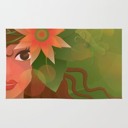 The Forest Girl Rug