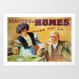 The Brasserie, French vintage poster. Art Print