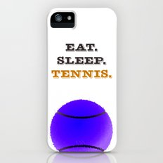 Eat. Sleep. Tennis. (Black) iPhone (5, 5s) Slim Case