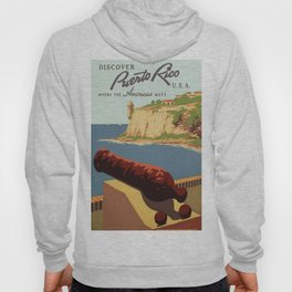 Vintage travel poster-puerto rico Hoody