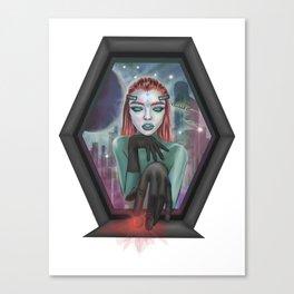 Cyberpunk Art. Digital poster Canvas Print
