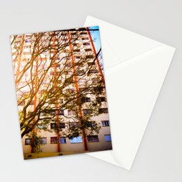 The tree and the building  Stationery Cards