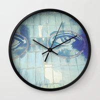 gatsby Wall Clocks featuring Gatsby by Kayleigh Kirkpatrick