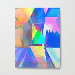 Pastel City Dreamscape Metal Print