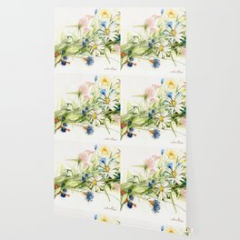 Bouquet of Wildflowers Original Colored Pencil Drawing Wallpaper