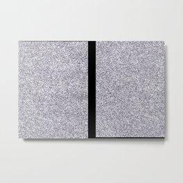 Black and silver minimal but maximal Metal Print
