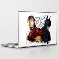 punisher Laptop & iPad Skins featuring Money: the best superpower by Vickn
