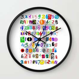 Colorful and Fun Depiction of Pi Calculated Wall Clock