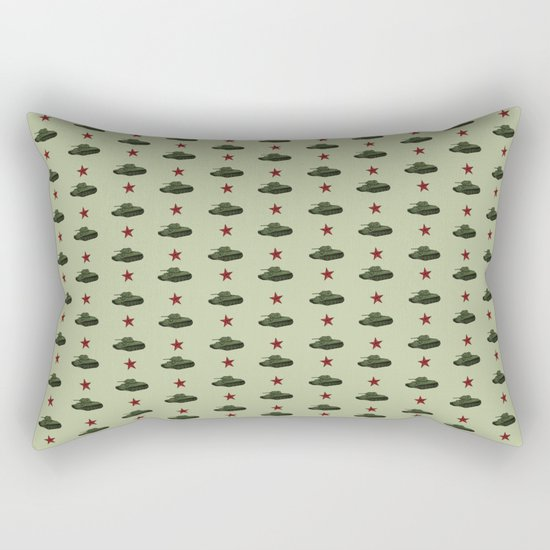 Tank pattern Rectangular Pillow