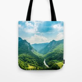 Landscape - Green Mountains  Tote Bag