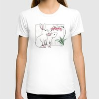 rabbits T-shirts featuring Rabbits by LyndaParker