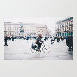 Biking in Milan Rug
