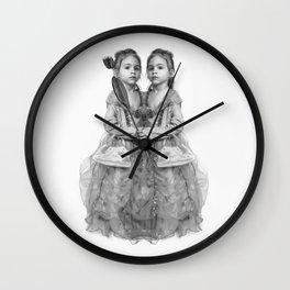 Sisters Twins Wall Clock