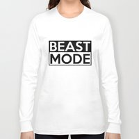 depeche mode Long Sleeve T-shirts featuring BEAST MODE by Adel