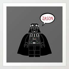 Personalized Darth Vader Art Print