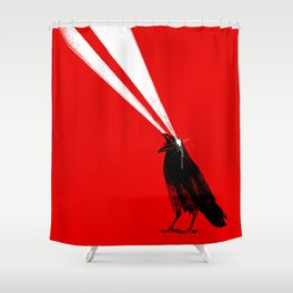 Laser Crow Shower Curtain