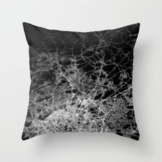 Paris map Throw Pillow