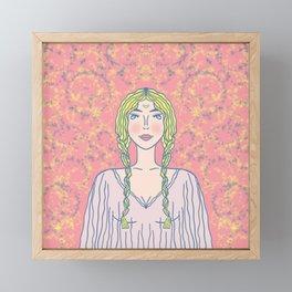 Miss Moon Framed Mini Art Print