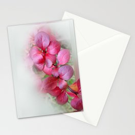 bright red leaflets Stationery Cards