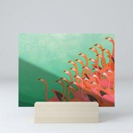 Fresco of the flamingoes. Mini Art Print