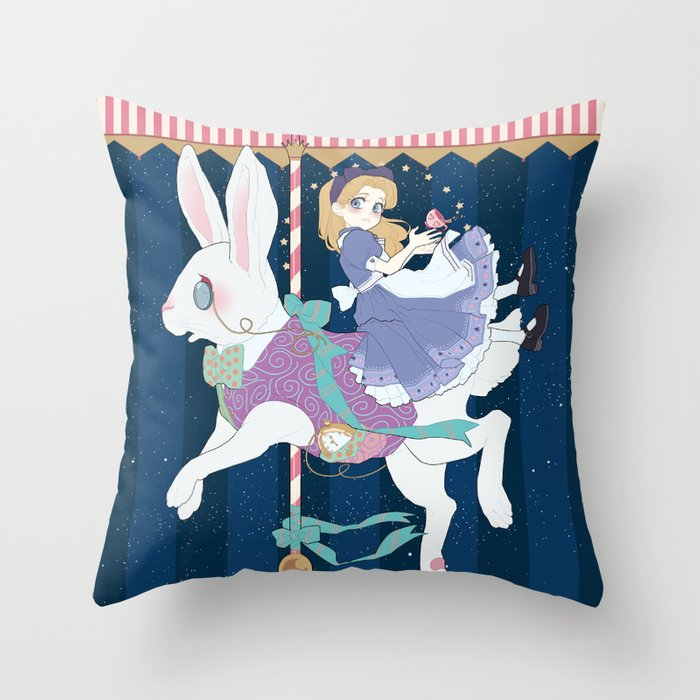 Carousel: World of My Own Throw Pillow