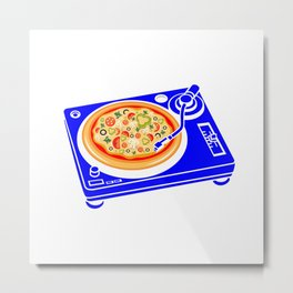Pizza Scratch Metal Print