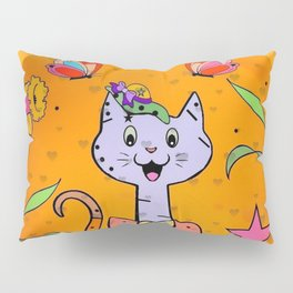 Cat Popart by Nico Bielow Pillow Sham