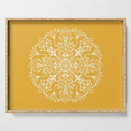 Lotus Mandala - Sunny Yellow Serving Tray